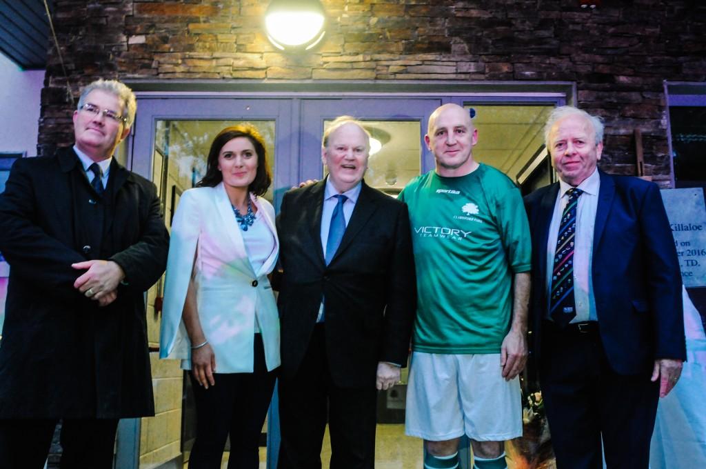 Joe Gilmartin, Caroline Madden, Minister Michael Noonan, Keith Wood, Joss Lowry